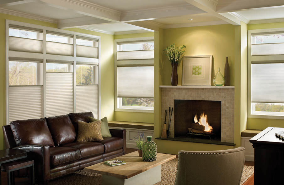 Motorized Window Fashions Are Especially Handy For High Windows And Wide  Windows Layered With Furniture. Pictured Above Are Hunter Douglas Applause  ...